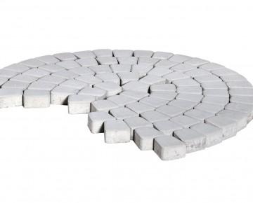 Тротуарная плитка BRAER Классико круговая, Серебристый