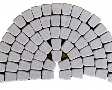 Тротуарная плитка BRAER Классико круговая, Грифильный