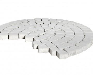 Тротуарная плитка BRAER Классико круговая, Белый