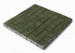 Тротуарная плитка BRAER Лувр, Гранит зеленый