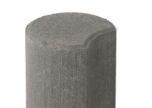 Бетонный столбик ограждения Палисад серый