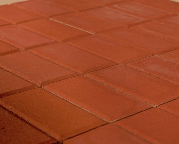 Тротуарная плитка BRAER Прямоугольник, Красный