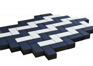 Тротуарная плитка BRAER Прямоугольник, Черная