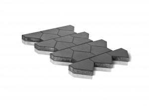 Тротуарная плитка BRAER Тиара, Серый