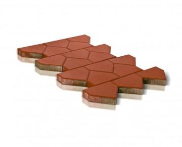 Тротуарная плитка BRAER Тиара, Красный