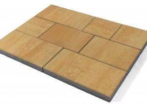 """Тротуарная плитка BRAER Триада, Color Mix Тип 28 """"Сахара"""""""