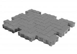 Тротуарная плитка BRAER Волна, Серый