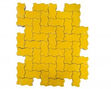 Тротуарная плитка BRAER Волна, Желтый